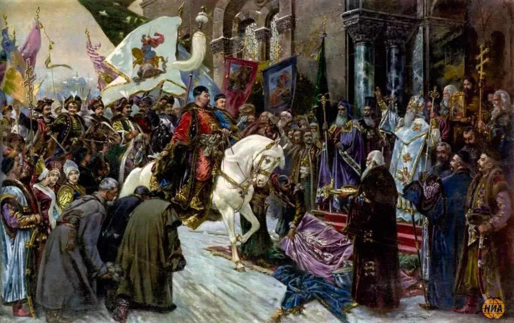 Николай Ивасюк, «Въезд Богдана Хмельницкого в Киев»