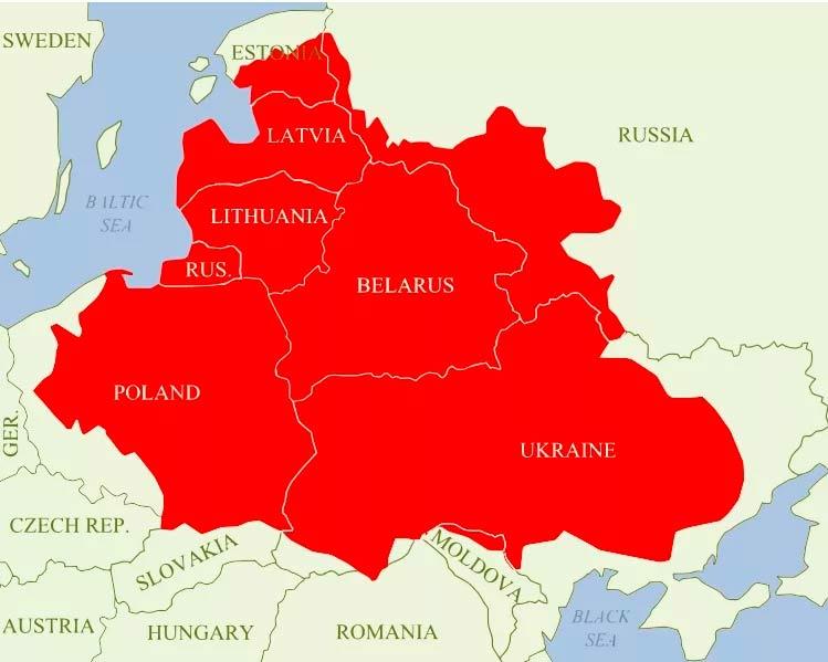 Территория Речи Посполитой накануне восстания Хмельницкого