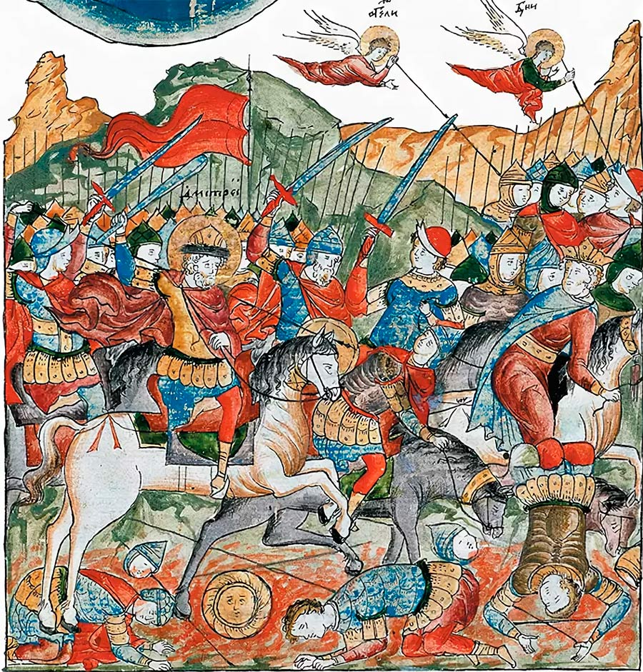 битва на куликовском поле - сюжет задонщины